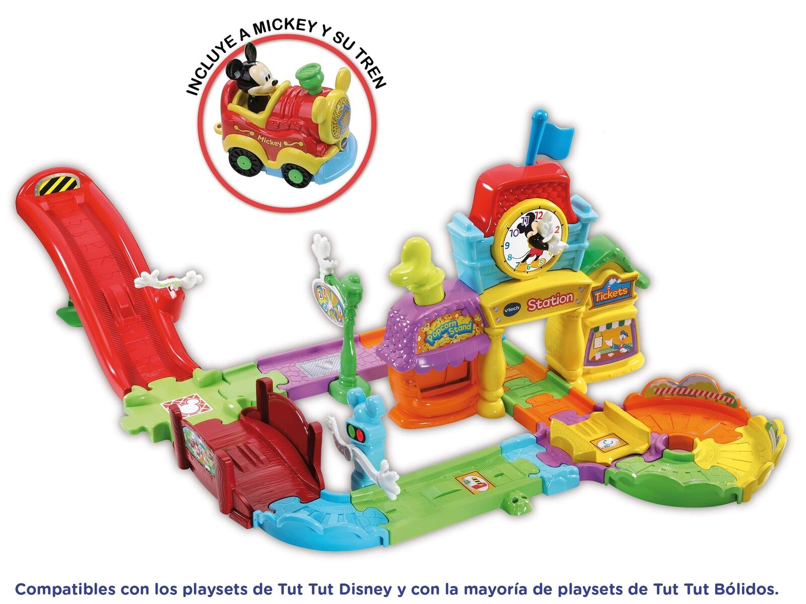 VTech 80 – 512222 Train Station 6 Melodies and 3 Songs, Green (3480 – 512222)