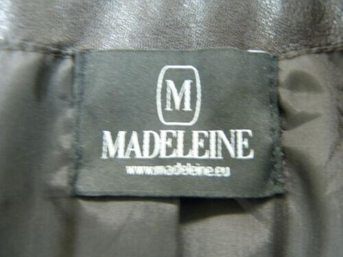cuir M 38 Nappa foncé F Gr Veste 7896 et brun menthe en Madeleine d'agneau PwwTI5