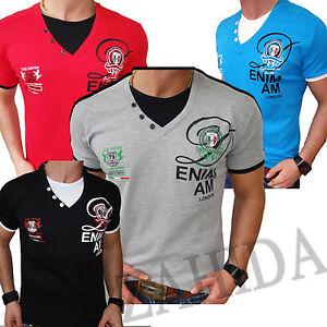 Zahida-Men-039-s-T-Shirt-Clubwear-Colors-Contrast-Polo-Summer-Club-NEW