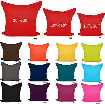 Plain Cushion Covers 100% Cotton Decorative Pillow Cases 16x16 18x18 20x20 Size