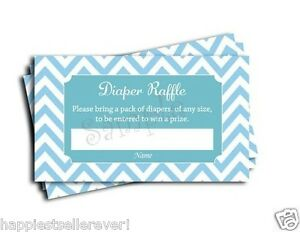 Superb Image Is Loading 50 Blue Chevron Diaper Raffle Tickets Baby Shower