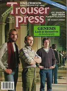 TROUSER-PRESS-magazine-No-71-GENESIS-cover-King-Crimson-U2-Joy-Division