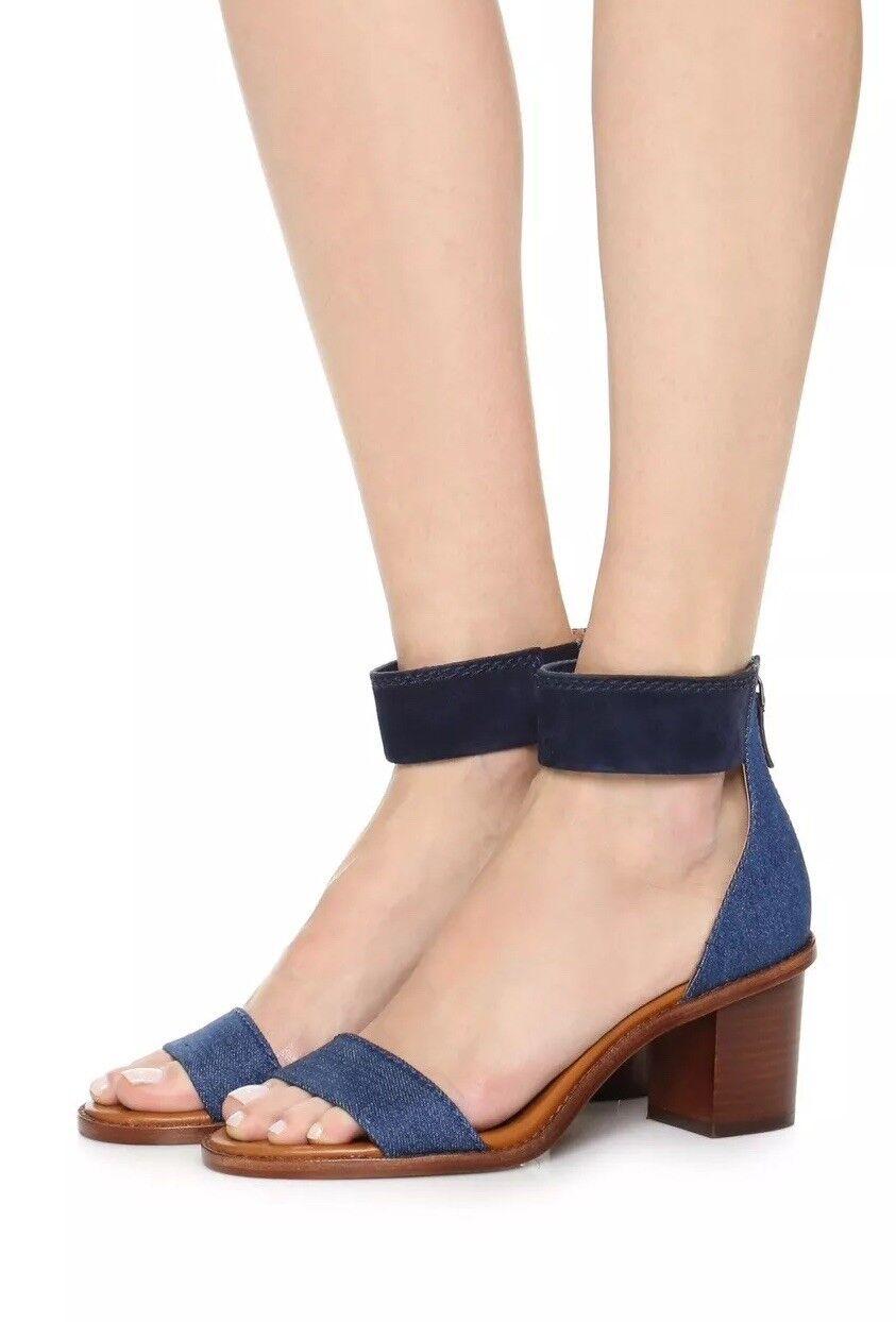 Frye 'Brielle' Leather & & & Denim Heel Sandal, 9 c6b8aa