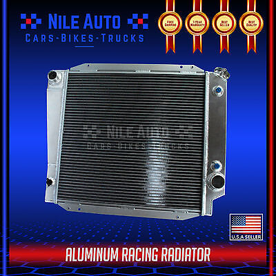 "3-ROW ALUMINUM RACING RADIATOR+14/"" FAN 66-77 FORD BRONCO WAGON//ROADSTER 5.0L V8"