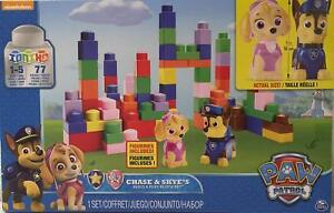 Chase-amp-Skye-039-s-Build-amp-Play-Block-Set-77-Pieces-Paw-Partol