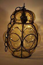 Genuine Murano Glass Porch Lantern - Vintage Porch Light - Venetian Glass