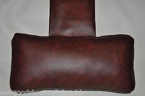 Oxblood Faux Leather Hanging Armchair Sofa Headrest