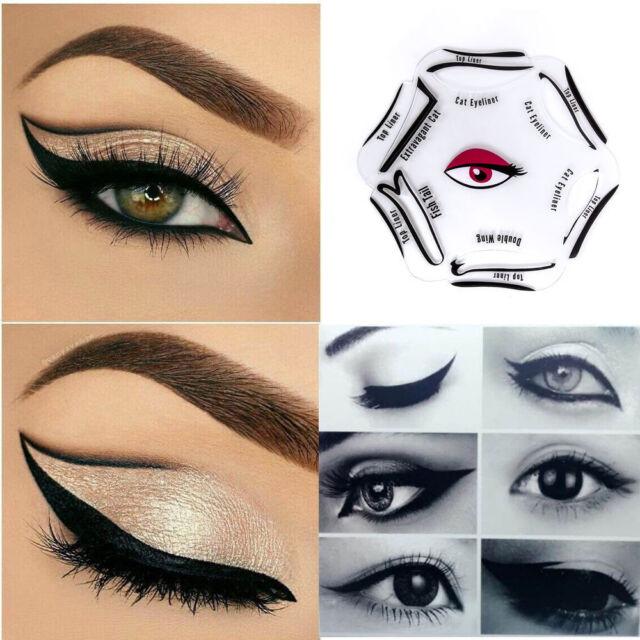 6 In 1 Eyeliner Stencil Set Makeup Guide Quick Cat Eye Liner Shaper