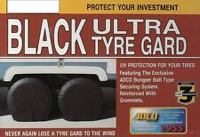 "Trailer Tire Covers RV Tire Savers Motorhome Tire Saver Cover Pair Black 33""-35"""