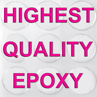 100 Qty - 1 Inch Clear Epoxy Sticker Circle Dome Bottle Cap Round Adhesive Dots