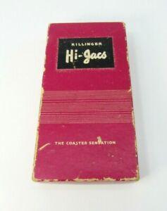 VINTAGE-KILLINGER-HI-JACS-COASTERS-MARION-VIRGINIA-IN-ORIGINAL-BOX-BARWARE-CO