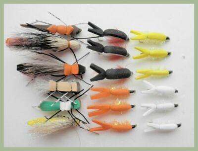 Foam Bug Fishing Flies mixed 18 per pack For Fly Fishing Size 8 Foam flies