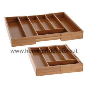 portaposate in legno organizer per cassetti accessori da cucina Pinhan