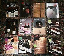 (( TWELVE )) POST AUCTION WINE CATALOGS  Vintage Wine Bordeaux Large Value $200