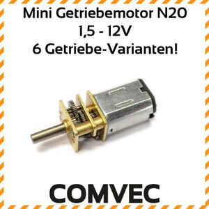 COMVEC-mini-Getriebemotor-DC-3V-6V-12V-Metall-Getriebe-Motor-mikro-micro-N20