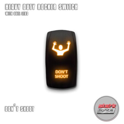 DON/'T SHOOT ORANGE Laser LED Rocker Switch 5 Pin Dual Light 20A 12V ON OFF