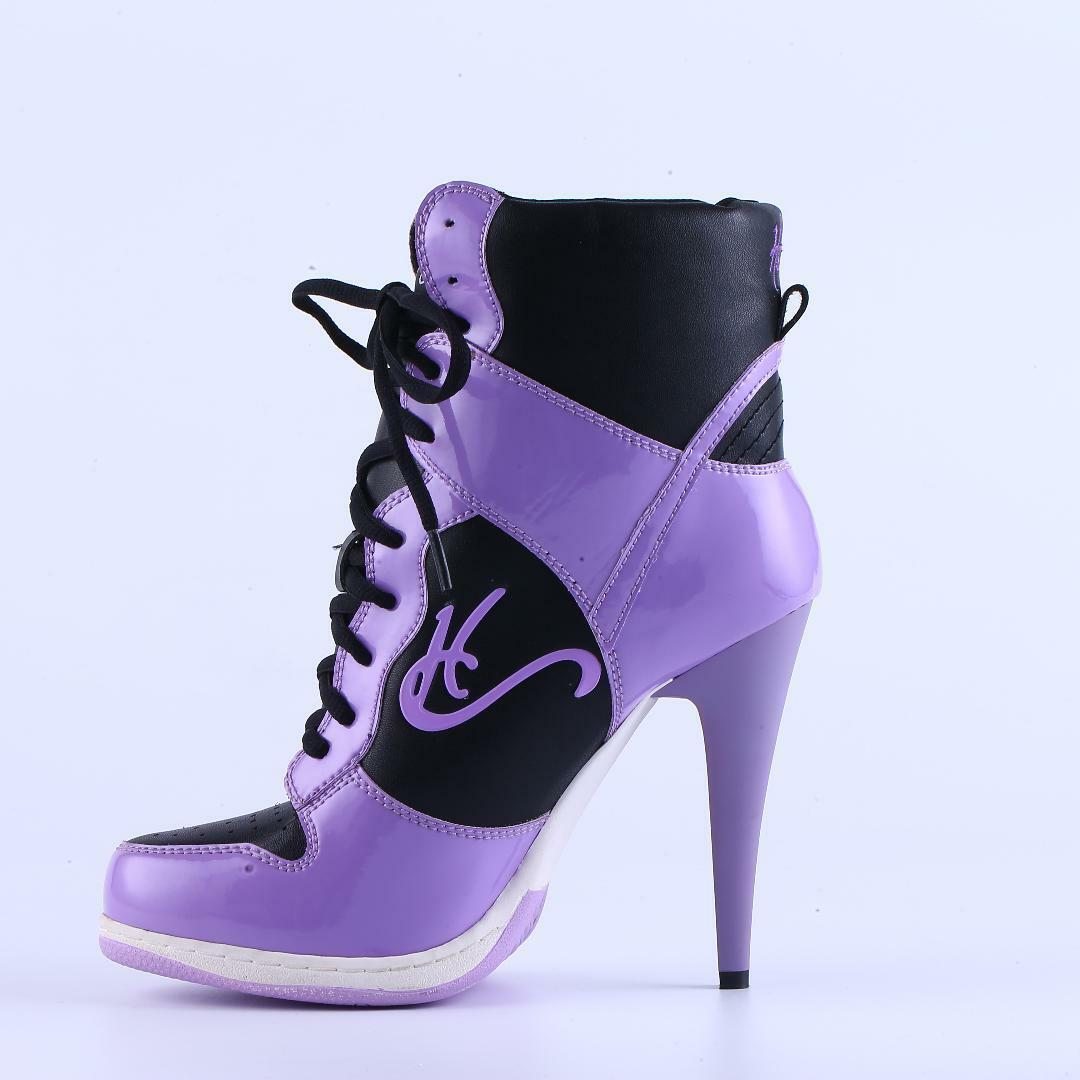 New High Heel Sneakers, Beautiful quality CA-008 Awesome comfort, Purple HT, CA-008 quality 17ee63
