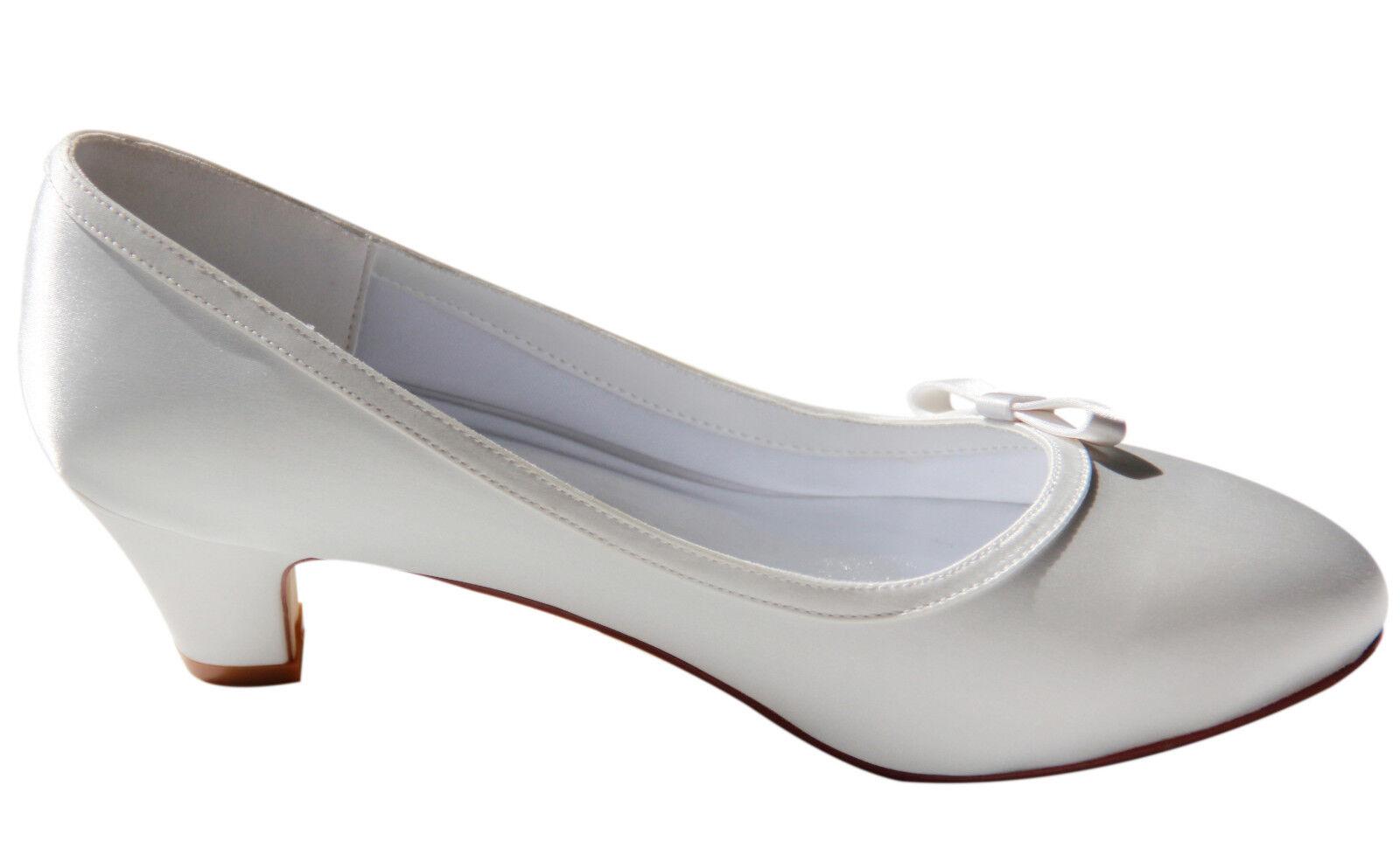HBH Satin Brautschuhe, innen ausgepolstert,mit Schleife, 5cm Absatz, Farbe Farbe Farbe Ivory     | Online  | Merkwürdige Form  | Wunderbar  711ea8