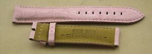 SUB-CHRONO-Watch-Strap-18mm-Pink-Alligator-Pattern-Leather-Padded-Authentic-New