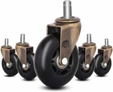 Lphy Office Chair Caster Wheels 3 Replacement Rubber Casters With Universal Fit