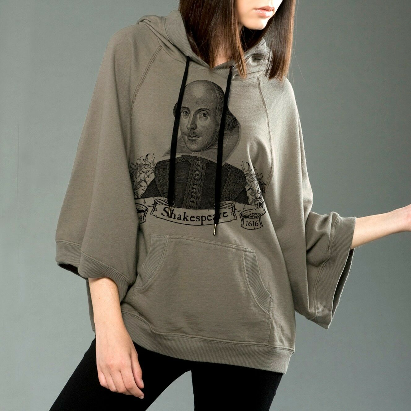 William William William Shakespeare Poncho Hoodie Tartx S - XL 789813