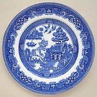 "Alfred Meakin ""Old Willow"" Pattern Dinner Plate: 9¾"" Diameter"