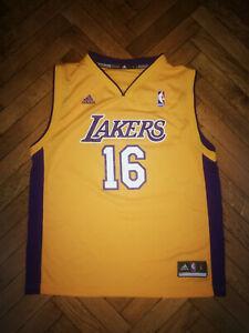 Details about Los Angeles Lakers Jersey Adidas Pau Gasol Kids NBA Shirt Basketball Boys Vest