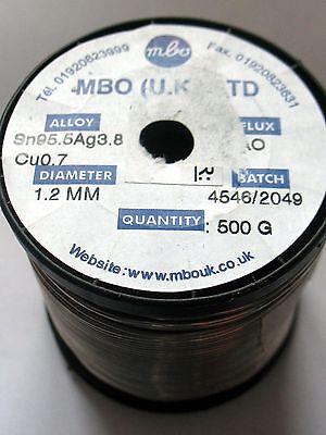 Solder Wire 1.2mm Lead free 3.8% Silver Sn95.5Ag3.8Cu0.7 500g Reel Flux cored