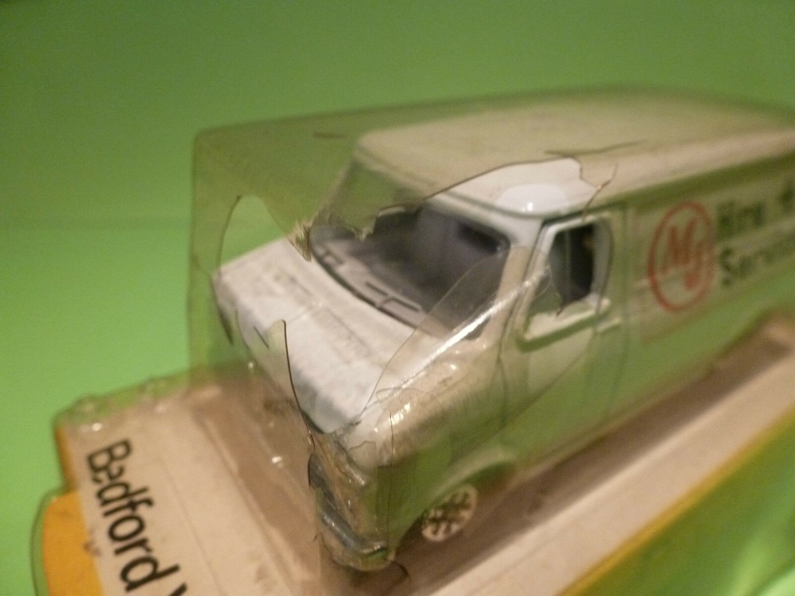DINKY TOYS 410 BEDFORD VAN - - - HIRE + SERVICE - RARE SELTEN - EXCELLENT IN BOX 34d426