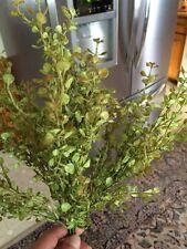 13 inch GREEN PEPPERGRASS BUSH ARTIFICAL GREENERY SILK FLOWER ARRANGEMENT DECOR