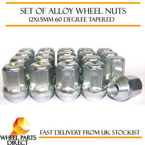 Set-of-20-12x1-5mm-12x1-5-Alloy-Steel-Wheel-Lug-Nuts-60-Degree-Tapered-Bolts