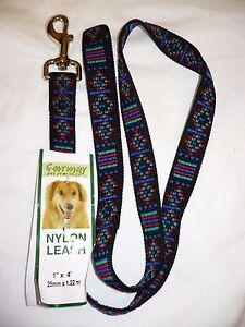 Formay Powder Coat Metal Snap 1 Inch Nylon Dog Leash Green 4 Foot   NEW