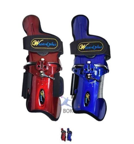 WIZARD PLUS Blue /& Wine Colour Bowling Wrist Support Right Hand Gloves Sport