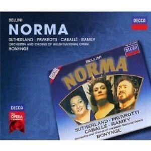SUTHERLAND-CABALLE-PAVAROTTI-OWNO-BONYNGE-NORMA-3-CD-NEW