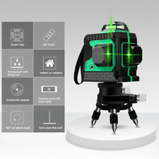 3d Laser Level Green Light 12 Lines Self Leveling Tool For Measure Construction