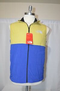 3638f2aac755 NWT The North Face Mountain Sweatshirt Vest Yellow Blue Mens Size ...