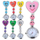 Special Women's Smiling Face Heart Clip-On Pendant Nurse Fob Brooch Pocket Watch
