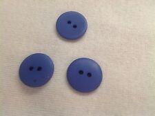 25 NEW 3/4 INCH LIGHT ROYAL BLUE  DULL/MATTE FINISH BUTTONS # 261CD29 - 35
