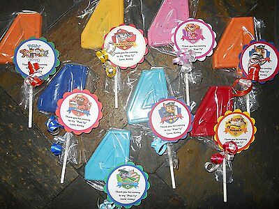 12 Nick Jr Team Umizoomi Gourmet 1st Birthday Party Favors with custom tags