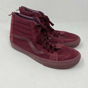 top suede sneakers back zips mens sz 11