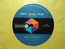 """John Rowles """"Cheryl Moana Marie"""" 1970 MCA Oz 7"""" 45rpm"""