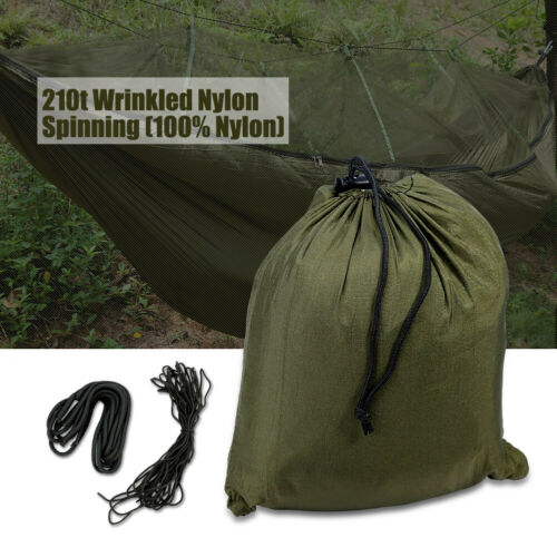 New Portable Outdoor Double Mosquito Net Hammock Nylon Camping Hanging Bed Swing