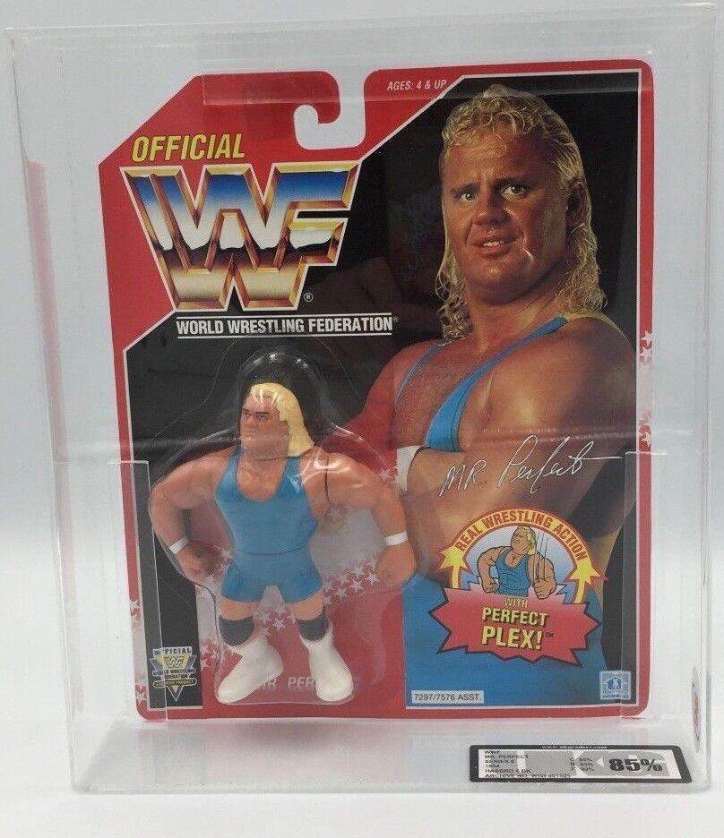 WWF Hasbro MR PERFECT 1994 Series 8 Carded Figure-UKG not AFA GRADED 85%  RARE