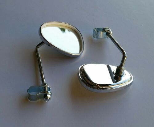 No Reflector 2 Bicycle mirrors CHROME REAR VIEW V CLUB MIRROR Two  Mirror