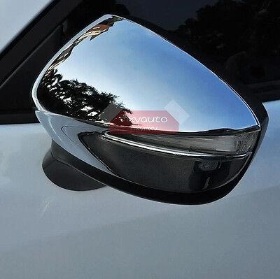 New 2pcs Chrome Door Mirror Cover Trim For Mazda Cx 3 2016