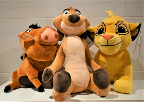 DISNEY THE LION KING PUMBAA Or TIMON LARGE SOFT TOY  28 cm TALL