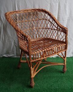 Poltrone Di Vimini.Dettagli Su Sedia Di Vimini Sedile Poltrona Per Giardino Veranda Salotto Naturale Azzurro Mostra Il Titolo Originale