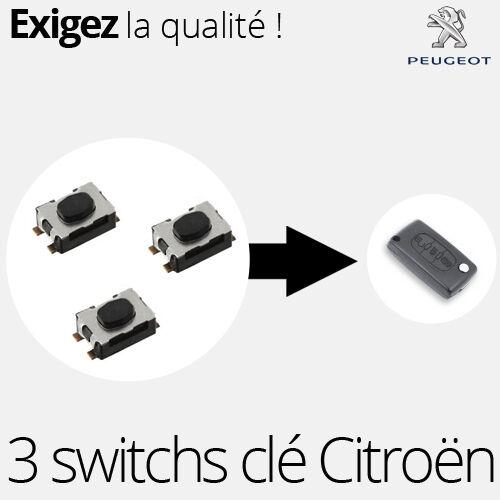 308CC RCZ 3 X Switch pour clé télécommande Peugeot  307 Expert 3 SW04