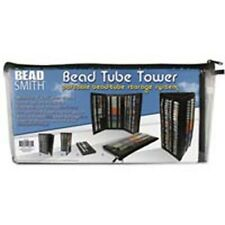 Bead Tower for Tubes  (Holds Round Tubes) Black BTW1 Beadsmith Storage Portable