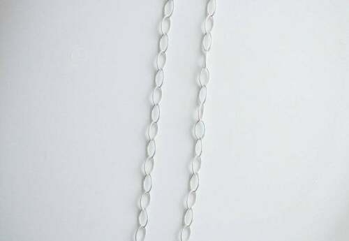 27 Inch .925 Sterling Silver 7x4mm Oval Cable Chain Necklace